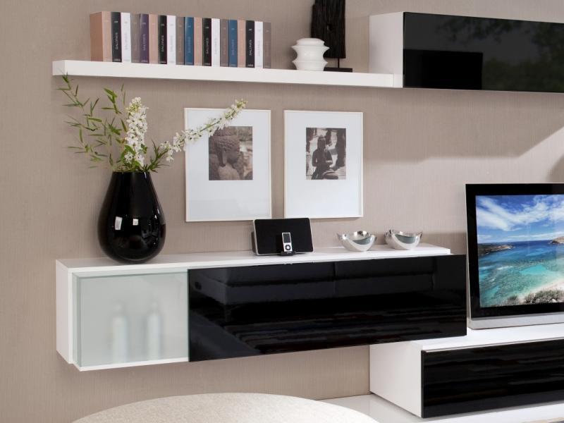 Black living room shelve unit for interior trends Black furniture for trendy interiors Black furniture for trendy interiors Black living room shelve unit for interior trends