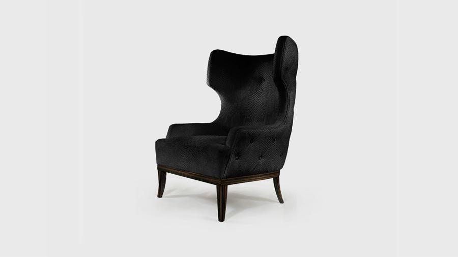 Matis black armchair by Brabbu Black furniture for trendy interiors Black furniture for trendy interiors Matis black armchair by Brabbu
