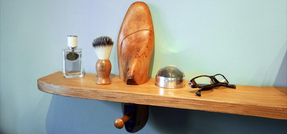 White Dove and Wonder Shoe Last Shelf