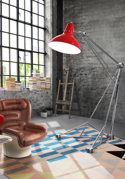 Delightfull, Diana, Jazz, Lighting Mid century lighting by Delightfull Mid century lighting by Delightfull diana floor giant colorful loft studio brass vintage lamp 011