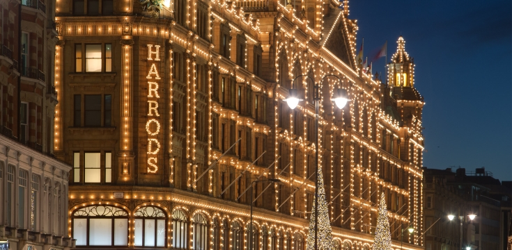 Harrods Christmas Decor Bright Christmas at Harrods Bright Christmas at Harrods Harrods Christmas Decor 1