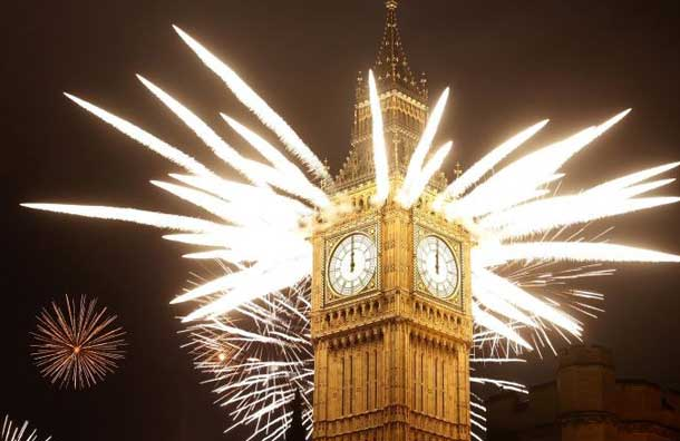 New Year's Firework in London New Year's Firework in London London Eye Decor Style 5