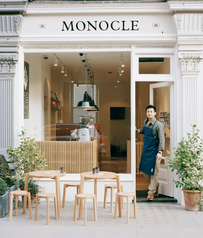 london cafe, best coffee in london, monocle cafe, monocle, best magazines london Monocle Café in Marylebone Monocle Café in Marylebone decor and style moncle cafe 1