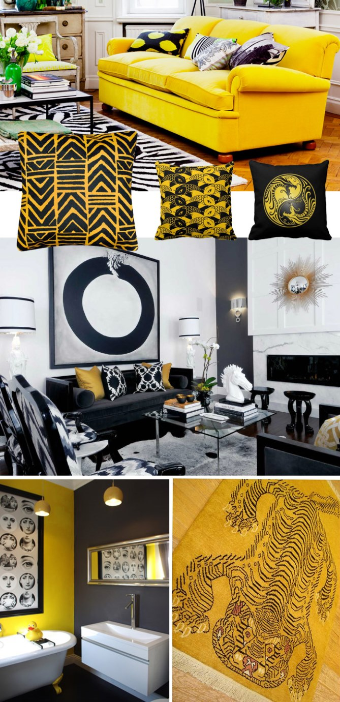 Vintage Trendy Tips for Decoration -  A Big Splash of Colour Vintage Trendy Tips for Decoration –  A Big Splash of Colour yellow and black