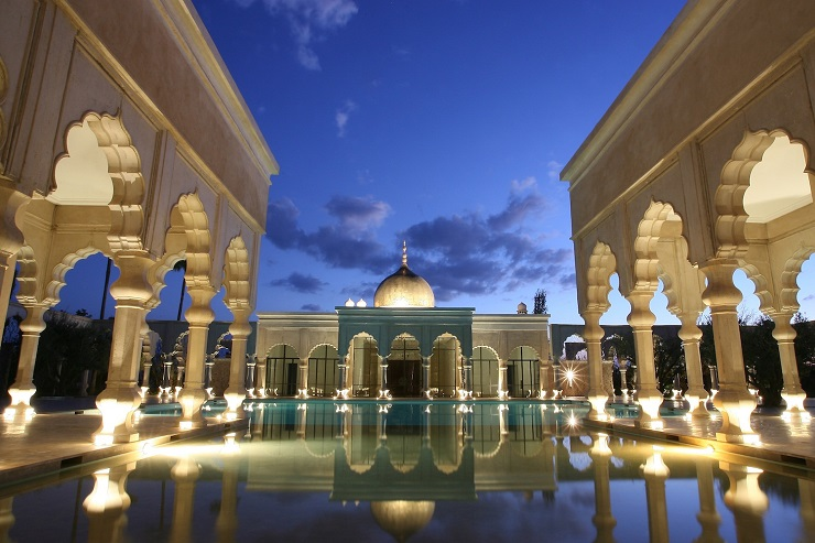 The Luxurious Palais Namaskar - A Dream Place in Marrakech The Luxurious Palais Namaskar – A Dream Place in Marrakech Pool Palace by night