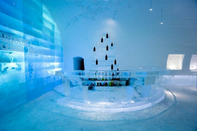 decor and style - winter destinations ice hotel sweden