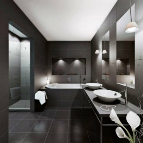 OUR MOST POPULAR ARTICLE OF 2014: Black Vanity - Bathroom Design Ideas
