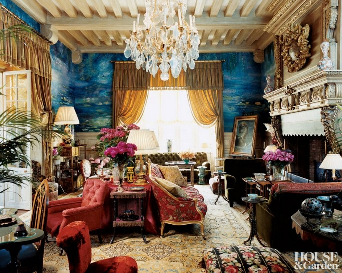 4 Best Interior Design Projects by Jacques Grange Chateau Gabriel