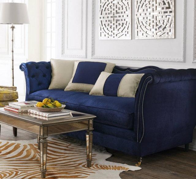 Modern Velvet Marine Blue Sofa Top 10 Modern Sofas for a Luxury Living Room Top 10 Modern Sofas for a Luxury Living Room Modern Velvet Marine Blue Sofa
