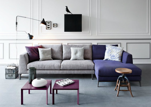 Time Pianca design modular sofa in grey and blue Top 10 Modern Sofas for a Luxury Living Room Top 10 Modern Sofas for a Luxury Living Room Time Pianca design modular sofa in grey and blue