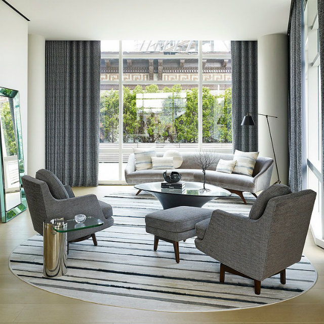 Tribeca Triplex by Amy Lau Design Top 10 Modern Sofas for a Luxury Living Room Top 10 Modern Sofas for a Luxury Living Room Tribeca Triplex by Amy Lau Design