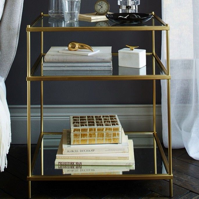 Modern-Brass-BedsideTable-2 Top Modern Nightstands Top Modern Nightstands Modern Brass BedsideTable 2