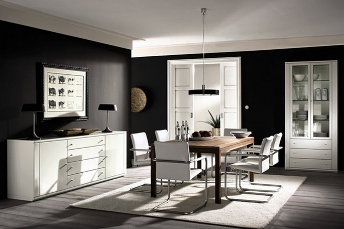 bnw-dining-room Inspirations for your DINING ROOM design Inspirations for your DINING ROOM design bnw dining room