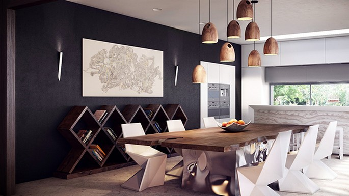 rustic-modern-dining-table Inspirations for your DINING ROOM design Inspirations for your DINING ROOM design rustic modern dining table