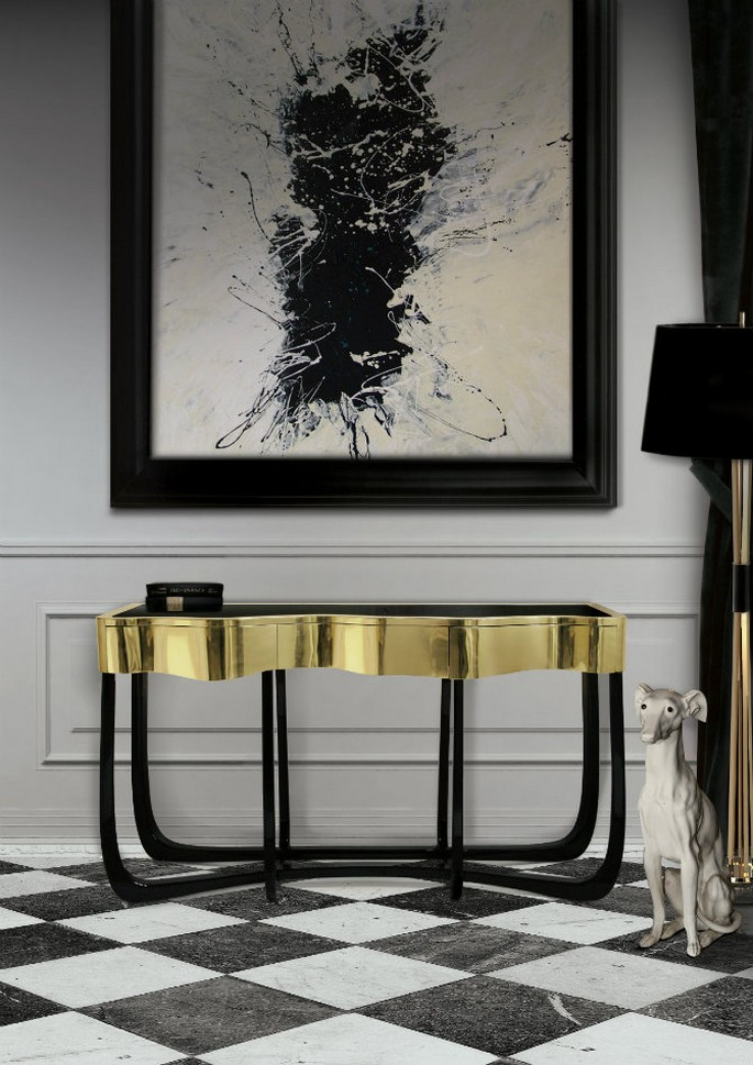 sinuous Modern Console Table Design for a Living room Modern Console Table Design for a Living room sinuous