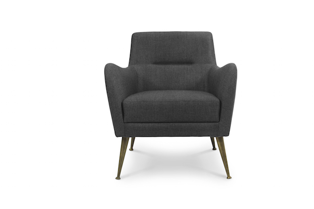 modern armchair 5 COZY MODERN ARMCHAIRS FOR YOUR LIVING ROOM Cozy Modern Armchair Dandridge Armchair
