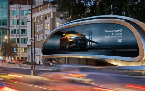 Zaha Hadid Design Unveils New Sculptural Billboard In London feat 1 480x300