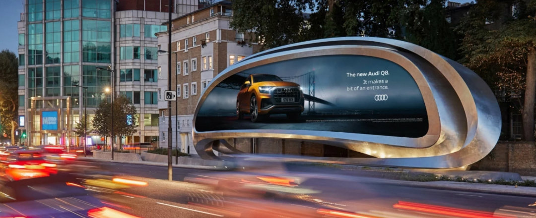 Zaha Hadid Design Unveils New Sculptural Billboard In London feat 1