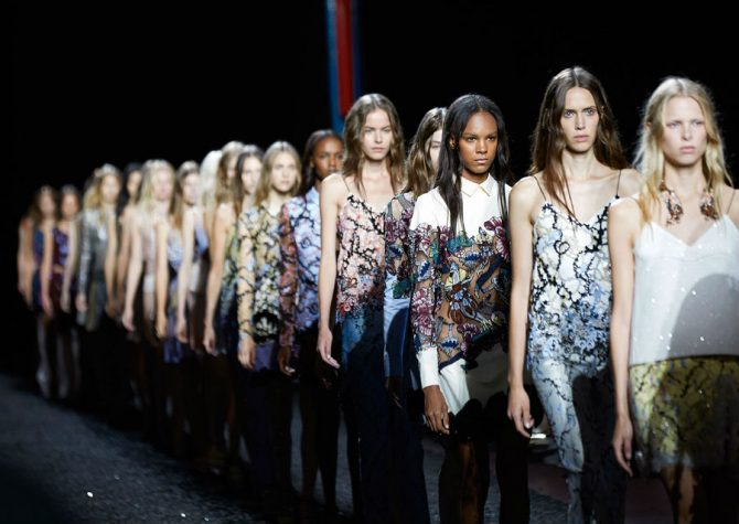 london fashion week All You Need to Know about London Fashion Week Mary Katrantzou SS15 Shaun James Cox British Fashion Council 47 670x475