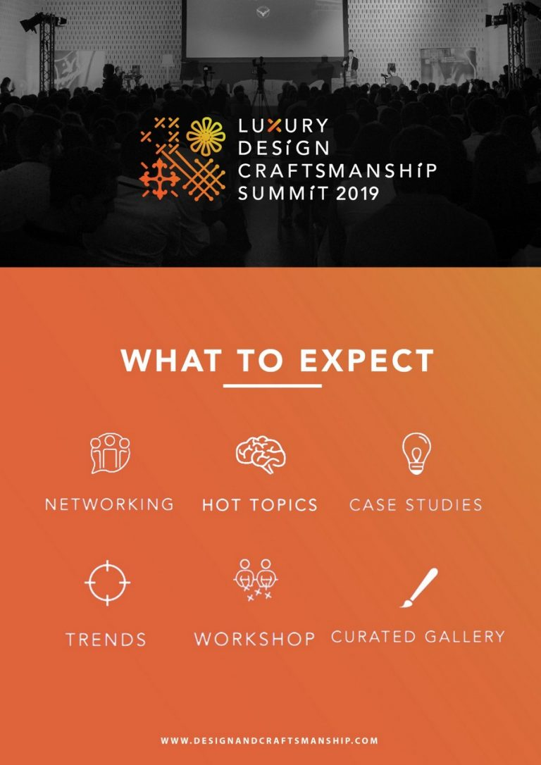 the luxury design & craftsmanship summit The Second Edition of The Luxury Design & Craftsmanship Summit is Upon Us! LDC3 768x1086